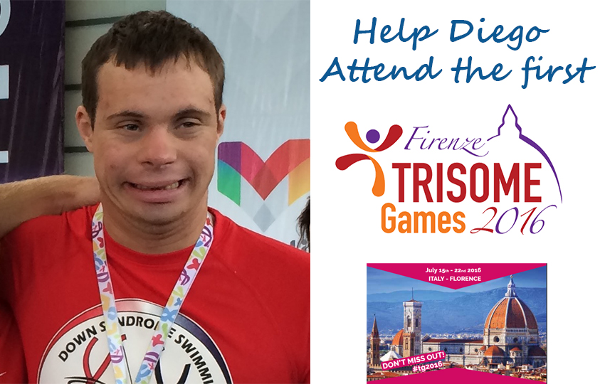 Help Diego Attend the first World Trisome Games in Italy